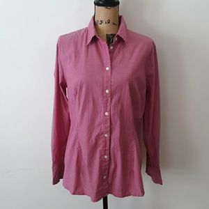 Apostrophe Pink Button Down Collar Shirt Size XL